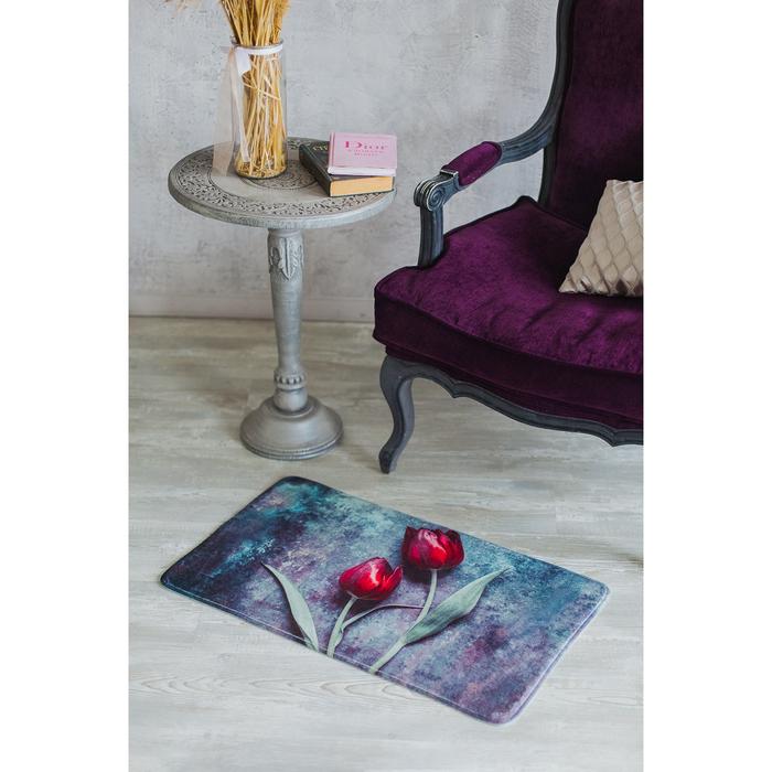 Коврик для дома «Цветы», 45×75 см, рисунок МИКС
