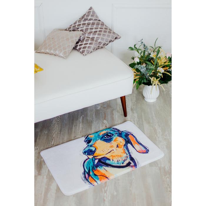 Коврик для дома «Собака», 45×75 см, рисунок МИКС