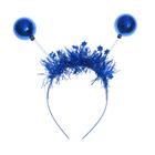 """Карнавальный ободок """"Шары"""", цвет синий"""