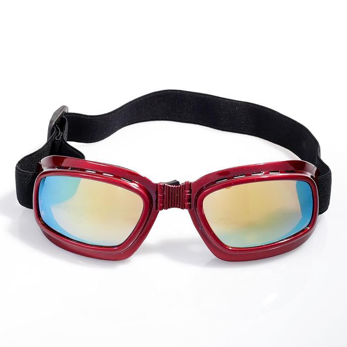 """Очки спортивные """"Koestler"""" KO-885, линзы зеркальные, оправа красная"""