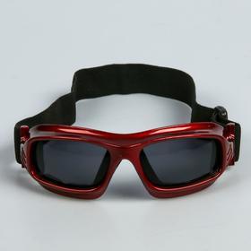 Очки спортивные 'Koestler' KO-013,  линзы чёрные, красная оправа Ош
