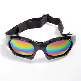 Очки спортивные 'Koestler' KO-520, линзы радужные, оправа чёрная Ош