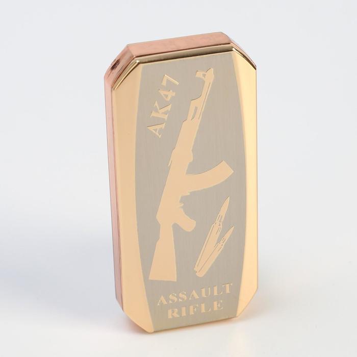 """Зажигалка электронная """"АК-47"""" в подарочной коробке, спираль, прямоугольная, 8 × 3 × 12.5 см"""