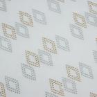 Термоаппликация из страз «Ромбы», 9 × 3,5 см, 20 шт на листе, цвет белый/золотой