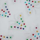 Термоаппликация из страз «Бабочка», 7,1 × 5,5 см, 28 шт на листе, цвет МИКС