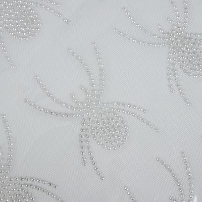 Термоаппликация из страз «Паук», 7,5 × 9,8 см, 12 шт на листе, цвет белый