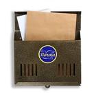 Ящик почтовый «Горизонталь», горизонтальный, без замка (с петлёй), бронзовый