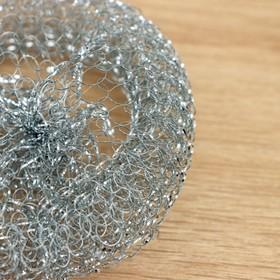 Губка для мытья посуды, металлическая, 12 гр. - фото 1716962