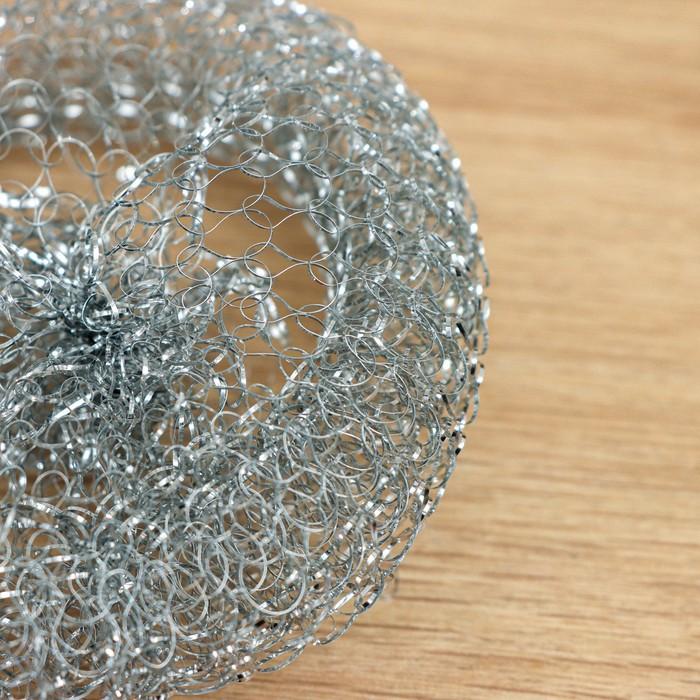 Губка для мыться посуды, металлическая, 12 гр