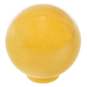 Ручка кнопка PLASTIC 008, пластиковая, желтая Ош