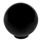 Ручка кнопка PLASTIC 008, пластиковая, черная