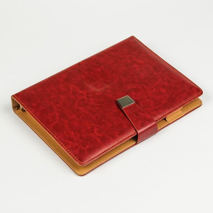 Органайзер на кольцах, формат А5, 96 листов в линейку, с ремешком, «Классика», МИКС - фото 369518362