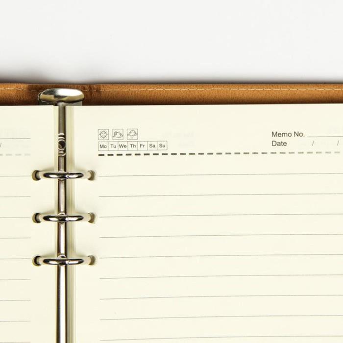 Органайзер на кольцах, формат А5, 96 листов в линейку, с ремешком, «Классика», МИКС - фото 369518364