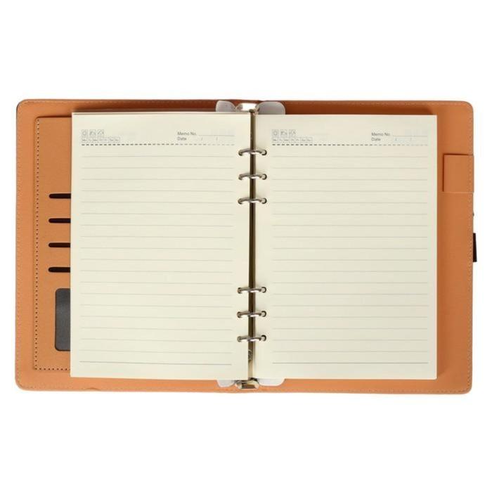 Органайзер на кольцах, формат А5, 96 листов в линейку, с ремешком, «Классика», МИКС - фото 369518366