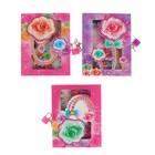 Записная книжка в подарочной коробке, формат А6, 80 листов в линейку, на замке, «Цветы», МИКС