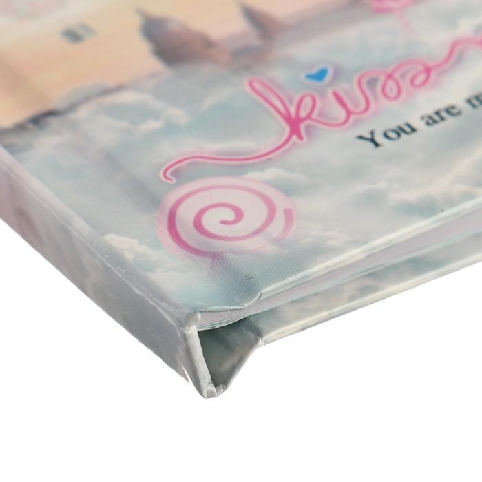 Записная книжка в подарочной коробке А5, 80 листов в линейку, на замке, «Зонтики», МИКС - фото 551447463