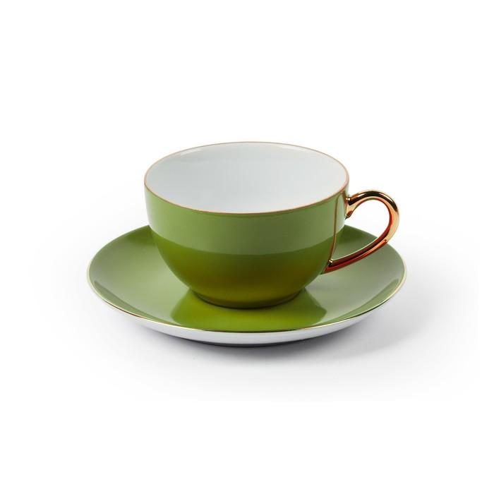 Набор чайных пар Monalisa, 220 мл, зелёный, 12 предметов