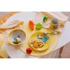 Набор детской посуды Доляна «Слонёнок», 3 предмета: кружка 230 мл, миска 400 мл, тарелка 18 см - фото 7333110