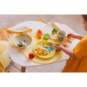 Набор детской посуды Доляна «Слонёнок», 3 предмета: кружка 230 мл, миска 400 мл, тарелка 18 см - фото 7333111