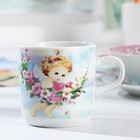 Набор детской посуды Доляна «Ангелок», 3 предмета: кружка 230 мл, миска 400 мл, тарелка 18 см - фото 105458350