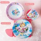 Набор детской посуды Доляна «Ангелок», 3 предмета: кружка 230 мл, миска 400 мл, тарелка 18 см - фото 105458351