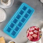Форма льда и шоколада 26,3×11 см «Кости», 12 ячеек (3,3×3,3 см), цвет МИКС