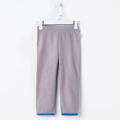 Брюки флисовые для мальчика, рост 98 см, цвет серый