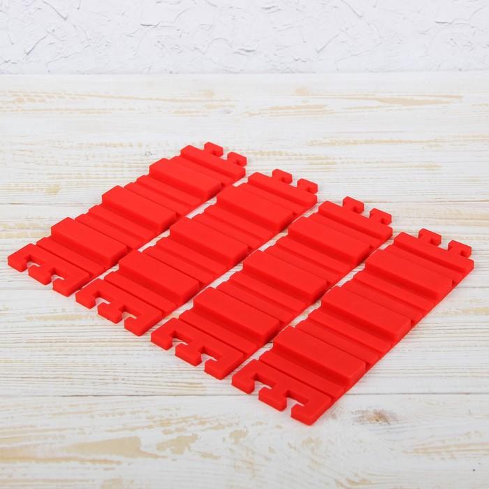 """Набор форм для моделирования 4 шт """"Пазл"""" 19х5,5х0,7 см"""