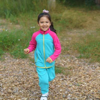 Джемпер флисовый для девочки, рост 128 см, цвет ментоловый