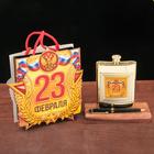 """Подарочный набор """"23 февраля"""", фляжка 240 мл., ручка"""
