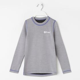 Лонгслив детская, цвет серый/фиолетовый, рост 98 см