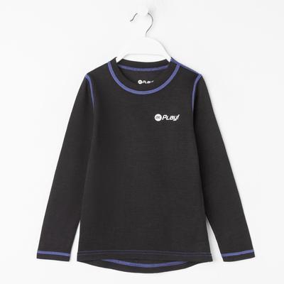 Джемпер детский, рост 104 см, цвет чёрный/фиолетовый Фд0043