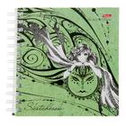 """Тетрадь-скетчбук А5, 80 листов на гребне """"Волшебная эльфийка"""", твёрдая обложка, блок 120г/м2"""