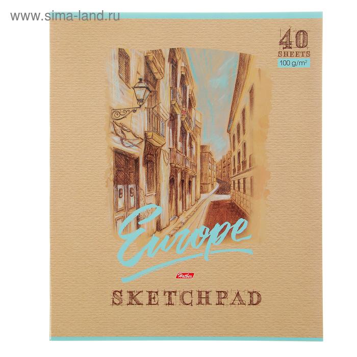 """Альбом для рисования (скетчпад) А3, 40 листов на скрепке """"Уголок Европы"""", блок 100г/м2"""