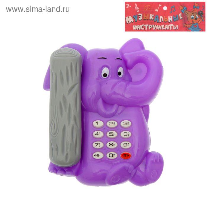 """Телефон музыкальный """"Солник"""", со световым эффектом, работает от батареек, цвета МИКС"""