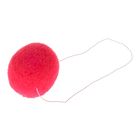 Карнавальный нос клоуна 4 см, цвет красный