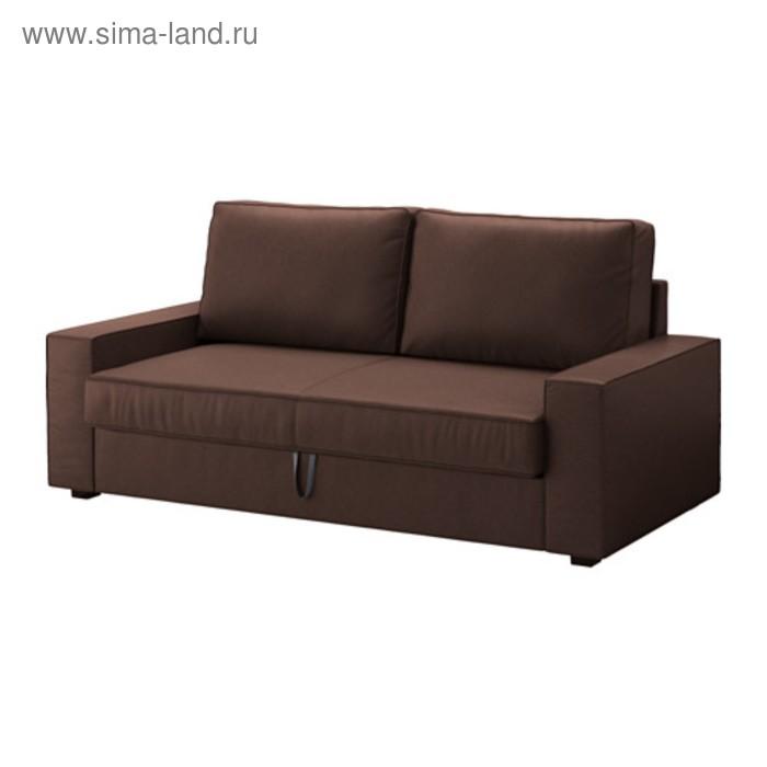 Чехол ВИЛАСУНД на 3-местный диван-кровать, цвет тёмно-коричневый