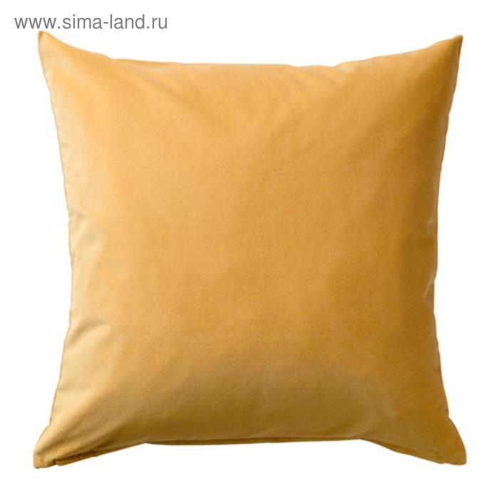 Чехол на подушку САНЕЛА, размер 50х50 см, цвет золотисто-коричневый