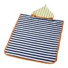 Полотенце с капюшоном СЛАППА, размер 60х62 см, синий/зелёный