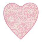 Ковёр ВЭНСКАПЛИГ, размер 61х67 см, цвет розовый