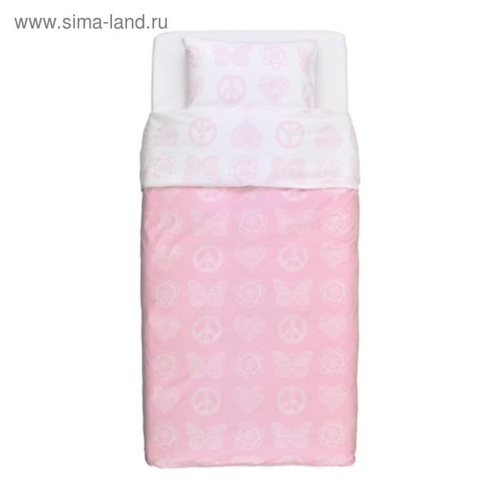 КПБ ВЭНСКАПЛИГ, размер 150х200 см, 50х70 см-1 шт., цвет розовый