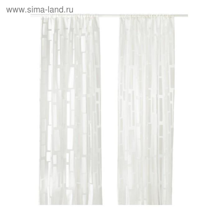 Гардины СТРАНДРОГ, размер 145х300 см-2 шт., цвет белый
