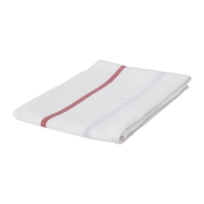 Полотенце кухонное ТЕКЛА, размер 50 × 65 см, белый/красный