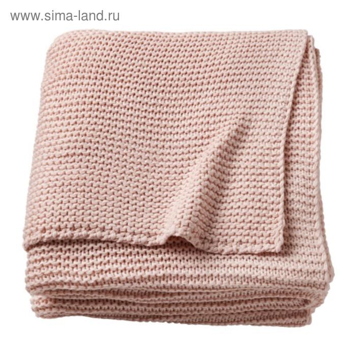 Плед ИГАБРИТТА, размер 130х170 см, цвет бледно-розовый