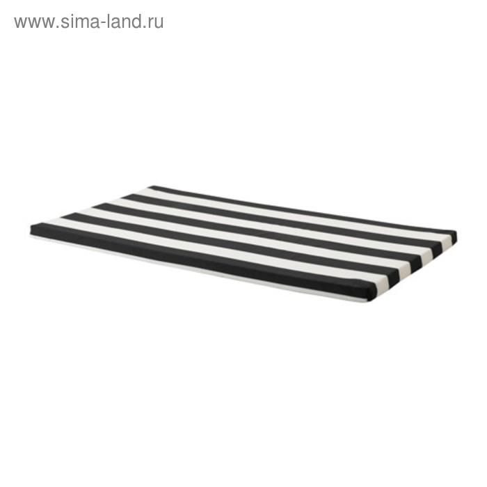 Подушка декоративная на скамью ХЕММАХОС, размер 90х49х3 см, цвет чёрный
