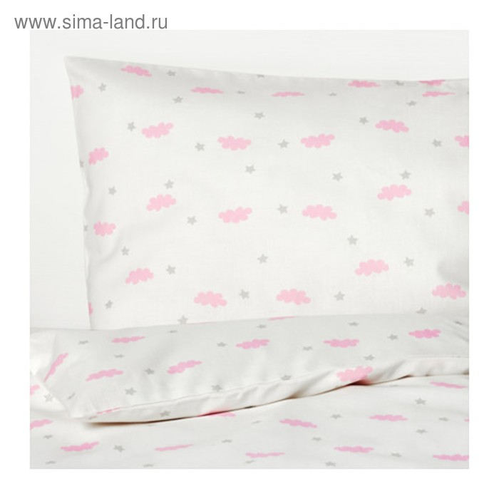 КПБ ХИММЕЛЬСК, 60х120 см, 110х125 см, 35х55 см-1 шт., цвет розовый
