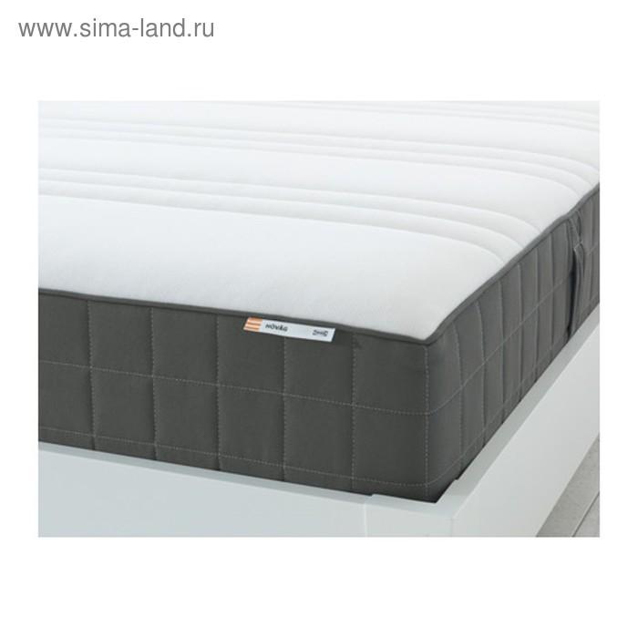 Матрас пружинный ХОВОГ, размер 90х200 см, цвет тёмно-серый