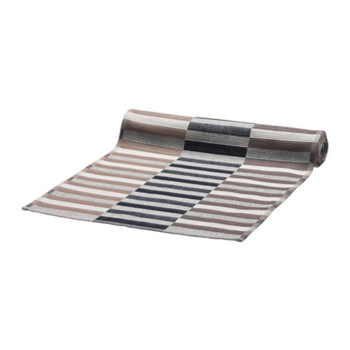 Дорожка на стол МИТТБИТ, размер 35 × 130 см, чёрный/бежевый