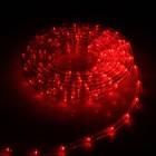 УЦЕНКА LED шнур 10 мм, круглый, 10 м, чейзинг, 2W-LED/м-24-220V, с контр. 8р, КРАСНЫЙ