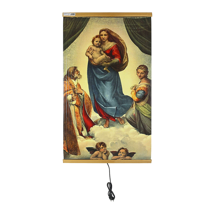 Обогреватель «Домашний очаг», картина «Сикстинская Мадонна», инфракрасный, 500 Вт